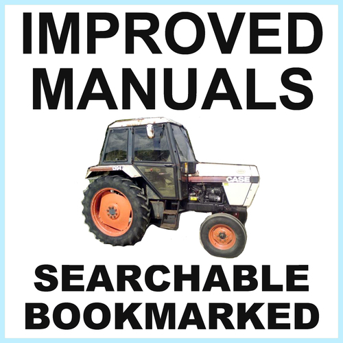 Product picture Collection of 4 files: Case David Brown 1394 Tractor Factory Service Manual & Parts Manual & Operators Manual & Shop Manual - IMPROVED - DOWNLOAD